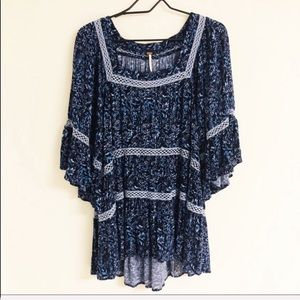 Free People 'Talk About It' Floral Tunic Top